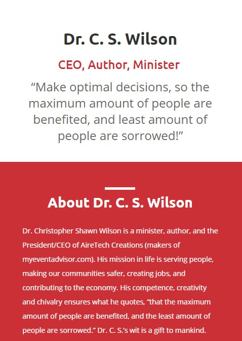 Visit The Dr. C. S. Wilson Website